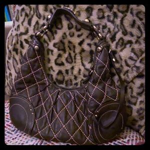 Juicy Couture chocolate brown leather hobo bag